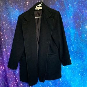 Albert Nipon- Black Peacoat size 8